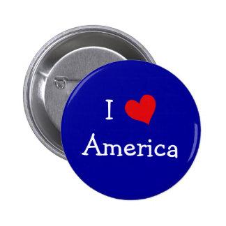 I Love America 2 Inch Round Button
