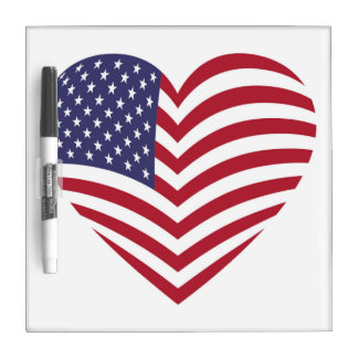I LOVE AMERICA DRY ERASE BOARD