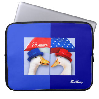 "I Love America. Funny Ducks  15"" Laptop Sleeve"