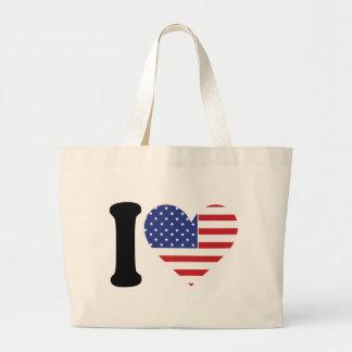 I Love America Large Tote Bag