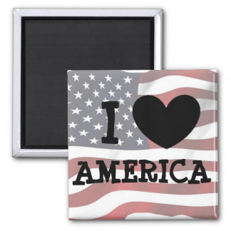 I Love America Refrigerator or Locker Magnet