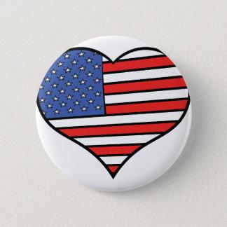 I love America -  United States of America pride 2 Inch Round Button