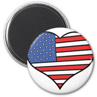 I love America -  United States of America pride 2 Inch Round Magnet