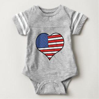 I love America -  United States of America pride Baby Bodysuit
