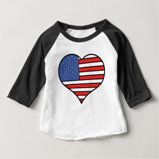 I love America -  United States of America pride Baby T-Shirt