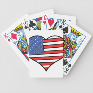 I love America -  United States of America pride Bicycle Playing Cards