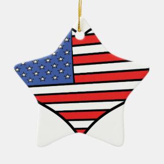 I love America -  United States of America pride Ceramic Ornament