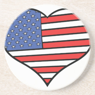 I love America -  United States of America pride Coaster