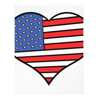 I love America -  United States of America pride Custom Letterhead