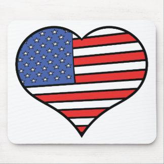 I love America -  United States of America pride Mouse Pad