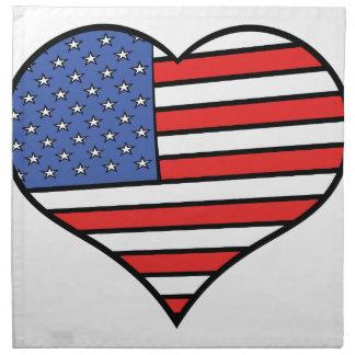 I love America -  United States of America pride Napkin