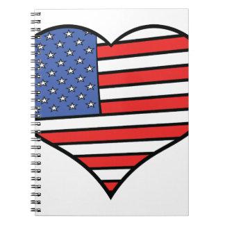 I love America -  United States of America pride Notebook
