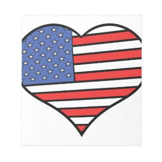 I love America -  United States of America pride Notepad