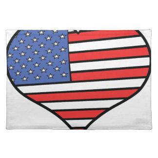 I love America -  United States of America pride Placemat