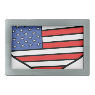 I love America -  United States of America pride Rectangular Belt Buckle