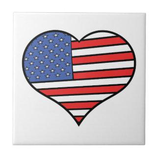 I love America -  United States of America pride Tile