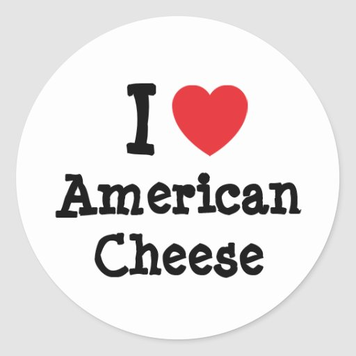 I love American Cheese heart T-Shirt Stickers