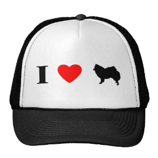 I Love American Eskimo Dogs Trucker Hat