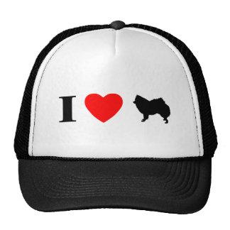 I Love American Eskimos Trucker Hat