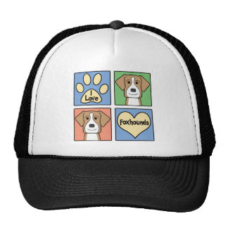 I Love American Foxhounds Trucker Hat