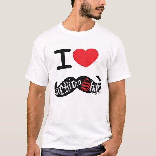 I Love American Shave's Moustache Est. 2008 T-Shirt
