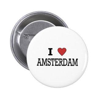 I Love Amsterdam 2 Inch Round Button