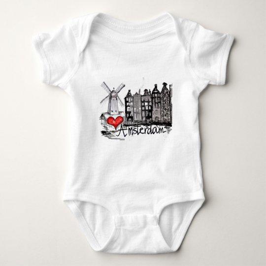 I love Amsterdam Baby Bodysuit