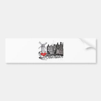 I love Amsterdam Bumper Sticker