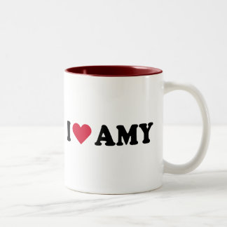 I LOVE AMY Two-Tone COFFEE MUG