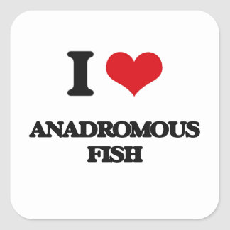 I love Anadromous Fish Square Sticker