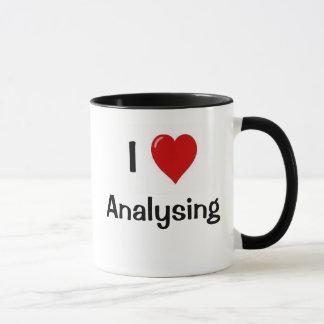 I Love Analysing I Wonder Why? Funny Analyst Quote Mug