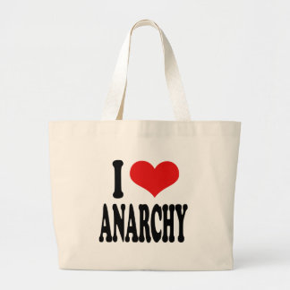 I Love Anarchy Large Tote Bag