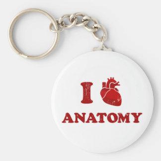 i love anatomy2 basic round button keychain