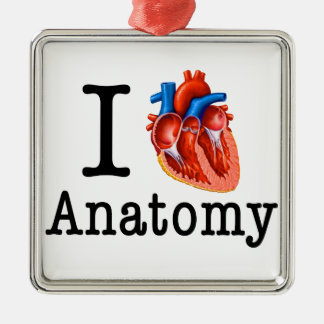 I love Anatomy Metal Ornament