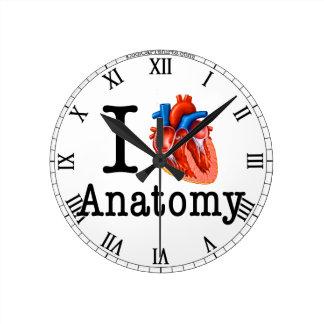 I love Anatomy Round Clock