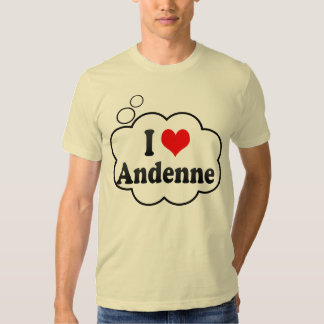 I Love Andenne, Belgium T Shirts