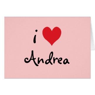 I Love Andrea Card