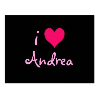 I Love Andrea Postcard