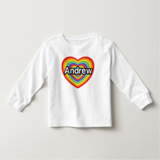 I love Andrew, rainbow heart Toddler T-shirt