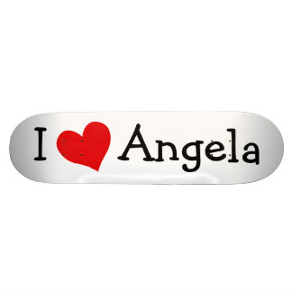 I Love Angela Skateboard