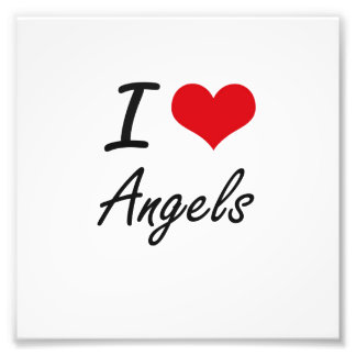 I Love Angels Artistic Design Photo Print