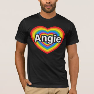 I love Angie. I love you Angie. Heart T-Shirt