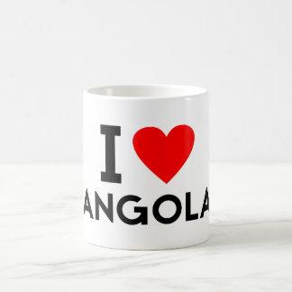 i love Angola country nation heart symbol text Coffee Mug