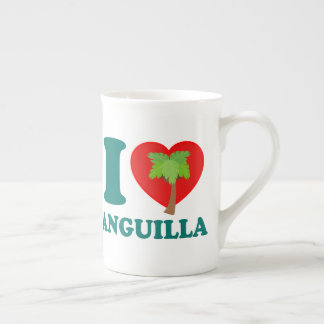 I Love Anguilla Tea Cup