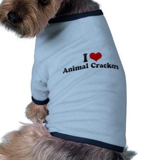 I Love Animal Crackers Doggie Tshirt