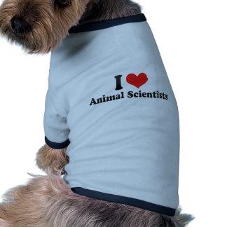 I Love Animal Scientists Dog Shirt