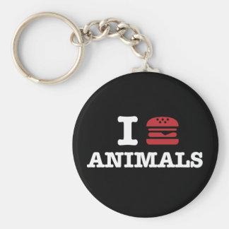 i love animals2 keychains