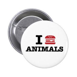 i love animals pinback button