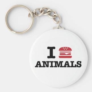 i love animals keychain