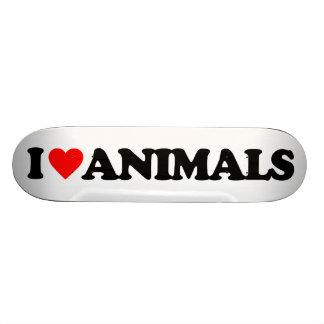 I LOVE ANIMALS SKATEBOARD
